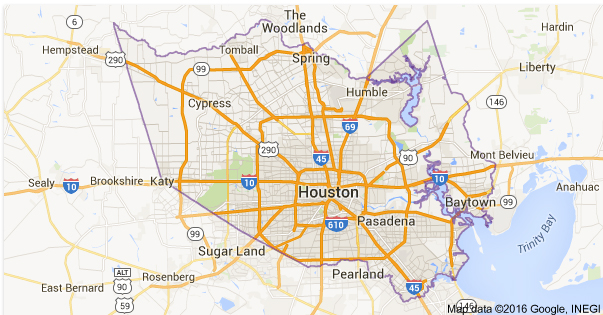 Harris County Permits Services on Google Map